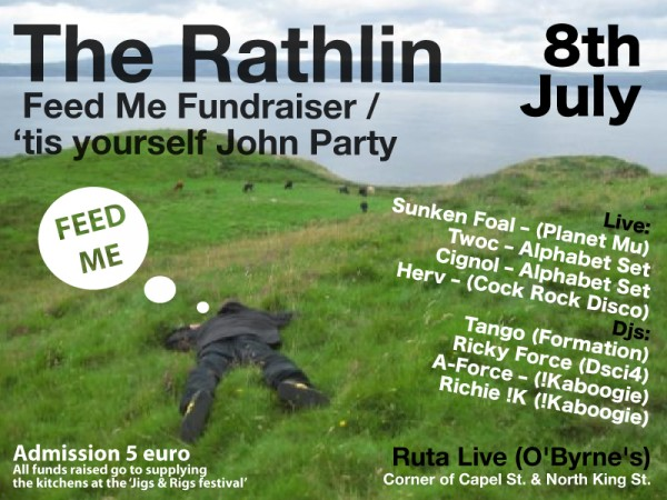 Image of flyer for Rathlin Jigs & Rigs fundraiser